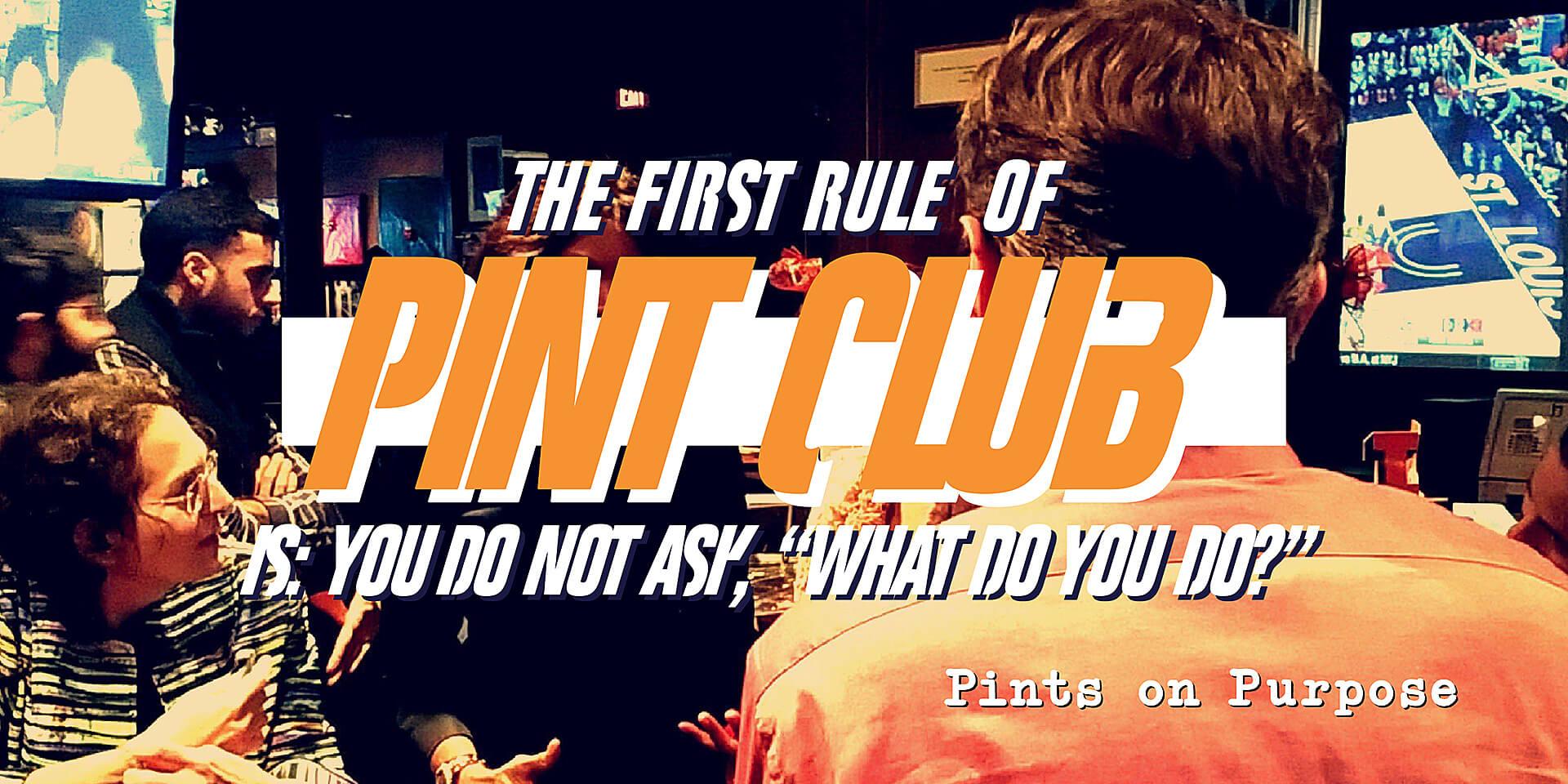 Pint Club: Pints on Purpose